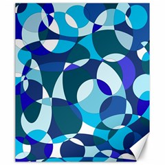 Blue Abstraction Canvas 20  X 24   by Valentinaart