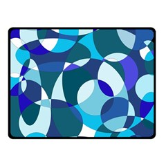 Blue Abstraction Fleece Blanket (small) by Valentinaart