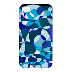Blue Abstraction Apple Iphone 4/4s Hardshell Case by Valentinaart