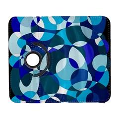 Blue Abstraction Samsung Galaxy S  Iii Flip 360 Case by Valentinaart