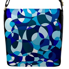 Blue Abstraction Flap Messenger Bag (s) by Valentinaart