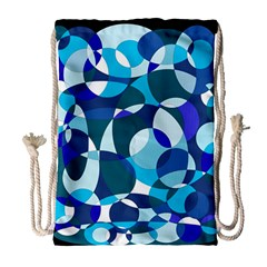 Blue Abstraction Drawstring Bag (large) by Valentinaart