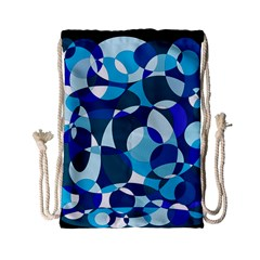 Blue Abstraction Drawstring Bag (small) by Valentinaart