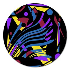 Optimistic Abstraction Magnet 5  (round) by Valentinaart