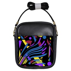 Optimistic Abstraction Girls Sling Bags by Valentinaart