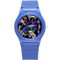 Optimistic Abstraction Round Plastic Sport Watch (s) by Valentinaart