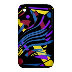 Optimistic Abstraction Apple Iphone 3g/3gs Hardshell Case (pc+silicone) by Valentinaart