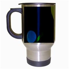Falling  ball Travel Mug (Silver Gray) by Valentinaart