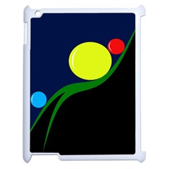 Falling  Ball Apple Ipad 2 Case (white) by Valentinaart