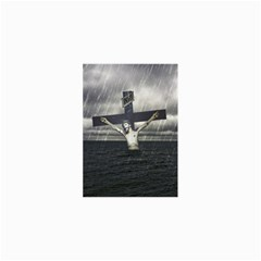 Jesus On The Cross At The Sea Collage Prints by dflcprints