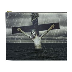 Jesus On The Cross At The Sea Cosmetic Bag (xl) by dflcprints