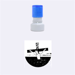 Jesus On The Cross At The Sea Rubber Round Stamps (small) by dflcprints