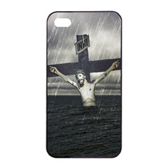 Jesus On The Cross At The Sea Apple Iphone 4/4s Seamless Case (black) by dflcprints