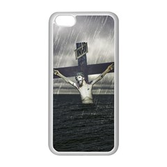 Jesus On The Cross At The Sea Apple Iphone 5c Seamless Case (white) by dflcprints