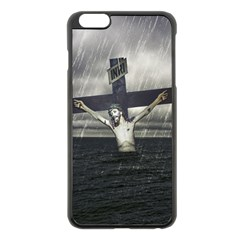 Jesus On The Cross At The Sea Apple Iphone 6 Plus/6s Plus Black Enamel Case by dflcprints