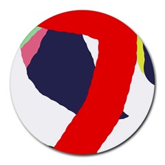 Beautiful Abstraction Round Mousepads by Valentinaart