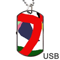 Beautiful abstraction Dog Tag USB Flash (One Side) by Valentinaart