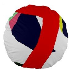 Beautiful Abstraction Large 18  Premium Flano Round Cushions by Valentinaart