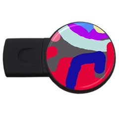 Crazy Abstraction Usb Flash Drive Round (2 Gb)  by Valentinaart