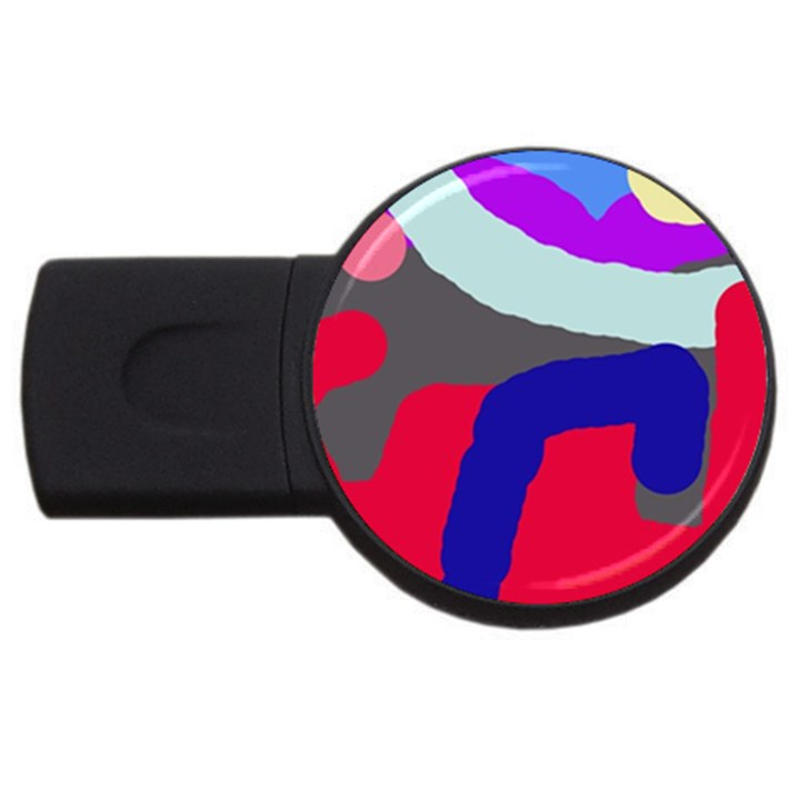 Crazy abstraction USB Flash Drive Round (2 GB)