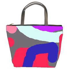 Crazy Abstraction Bucket Bags by Valentinaart