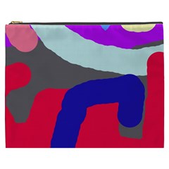 Crazy Abstraction Cosmetic Bag (xxxl)  by Valentinaart