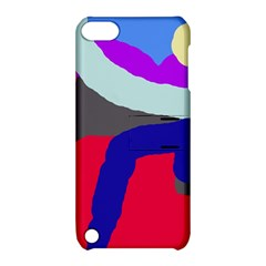 Crazy Abstraction Apple Ipod Touch 5 Hardshell Case With Stand by Valentinaart