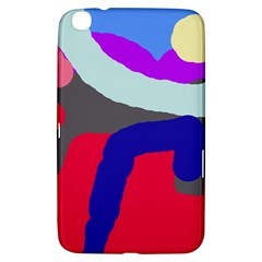 Crazy Abstraction Samsung Galaxy Tab 3 (8 ) T3100 Hardshell Case  by Valentinaart