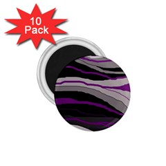 Purple And Gray Decorative Design 1 75  Magnets (10 Pack)  by Valentinaart