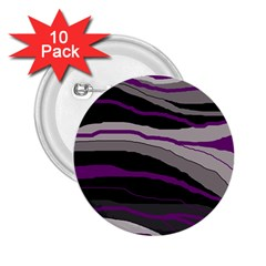 Purple And Gray Decorative Design 2 25  Buttons (10 Pack)  by Valentinaart