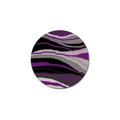 Purple And Gray Decorative Design Golf Ball Marker by Valentinaart