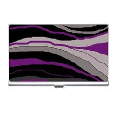 Purple And Gray Decorative Design Business Card Holders by Valentinaart