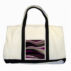 Purple And Gray Decorative Design Two Tone Tote Bag by Valentinaart