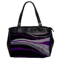 Purple And Gray Decorative Design Office Handbags by Valentinaart