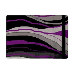 Purple And Gray Decorative Design Apple Ipad Mini Flip Case by Valentinaart