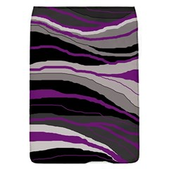Purple And Gray Decorative Design Flap Covers (s)  by Valentinaart
