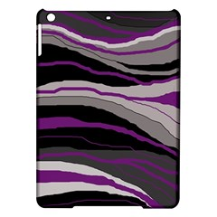 Purple And Gray Decorative Design Ipad Air Hardshell Cases by Valentinaart