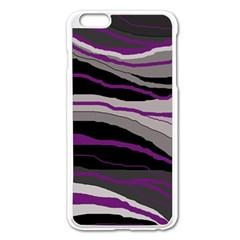 Purple And Gray Decorative Design Apple Iphone 6 Plus/6s Plus Enamel White Case by Valentinaart