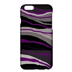 Purple And Gray Decorative Design Apple Iphone 6 Plus/6s Plus Hardshell Case by Valentinaart