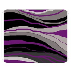 Purple And Gray Decorative Design Double Sided Flano Blanket (medium)  by Valentinaart