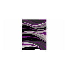 Purple And Gray Decorative Design Satin Wrap by Valentinaart