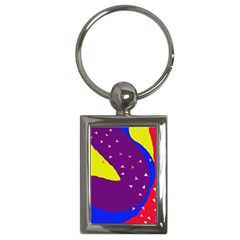 Optimistic Abstraction Key Chains (rectangle)  by Valentinaart