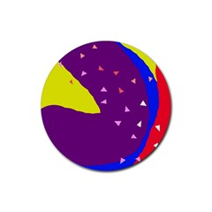 Optimistic Abstraction Rubber Coaster (round)  by Valentinaart