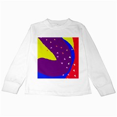 Optimistic Abstraction Kids Long Sleeve T Shirts by Valentinaart