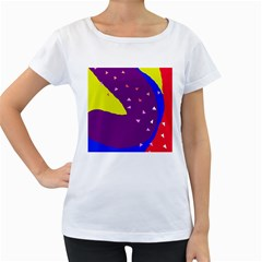 Optimistic Abstraction Women s Loose Fit T Shirt (white) by Valentinaart