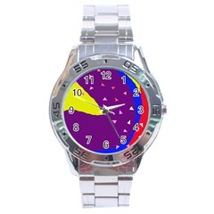 Optimistic Abstraction Stainless Steel Analogue Watch by Valentinaart