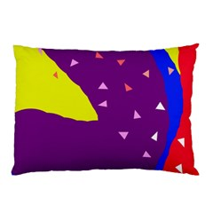 Optimistic Abstraction Pillow Case (two Sides) by Valentinaart