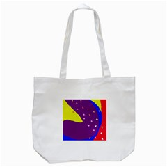 Optimistic Abstraction Tote Bag (white) by Valentinaart