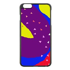 Optimistic Abstraction Apple Iphone 6 Plus/6s Plus Black Enamel Case by Valentinaart