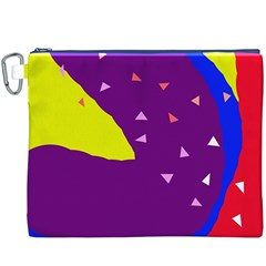 Optimistic Abstraction Canvas Cosmetic Bag (xxxl) by Valentinaart